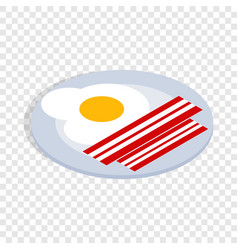 scrambled eggs isometric icon vector image