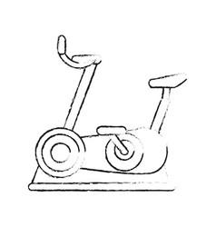 Spinning bike equipment vector