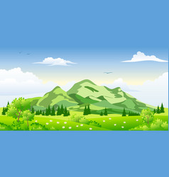 summer landscape with trees vector image vector image