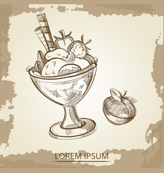 sweet desserts - hand drawn ice cream and vector image vector image