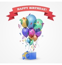 Template for happy birthday card vector