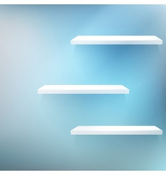 Three White empty shelves vector image vector image
