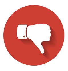 thumb down symbol human hand icon vector image vector image
