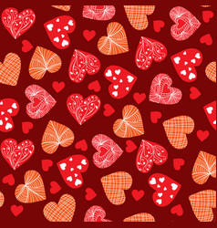 valentines day background design doodle hand vector image vector image