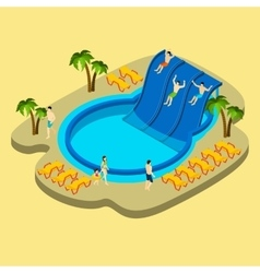 Water park and swimming vector