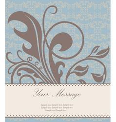 Beautiful floral card vector