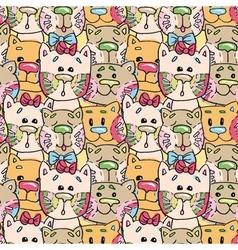 Seamless pattern kittens vector image