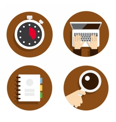 Flat icon for web design vector