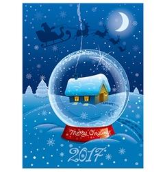 Happy christmas card vector