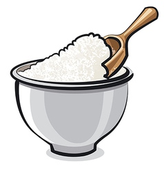 flour in bowl vector image