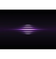 Glowing purple stripes on black background vector image
