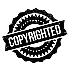 Copyrighted stamp rubber grunge vector