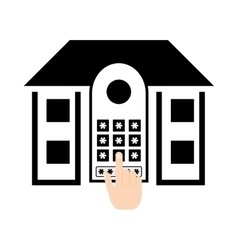 Pictogram home security control access password vector
