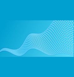 array of blue paper cut circles with vector image