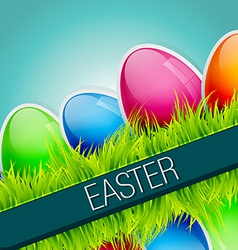 Shiny easter background vector