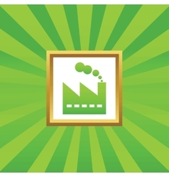 Factory picture icon vector