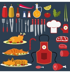 Set of the cooking objects vector