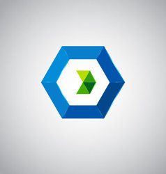 Icon design based on letter o vector