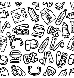 Medicine and healthcare seamless pattern vector