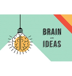 Brain and ideas concept in modern line art design vector image