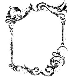 Black grunge ornate vector image