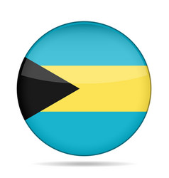 Button with flag of bahamas vector