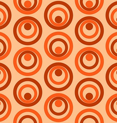 Abstract Colorful Retro Circles Seamless Pattern vector image