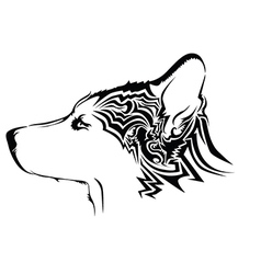 abstract dog design vector image