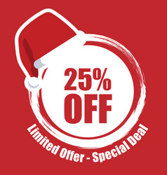 Banner xmas limited offer 25 off image vector