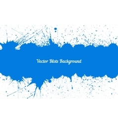blue ink splashes with space for text over vector image vector image