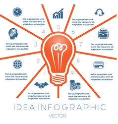 Business concept light bulb infographic 9 vector
