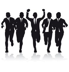 business runners vector image vector image