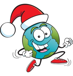Cartoon Santa Globe vector image