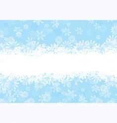 Christmas snowflake blue vector image