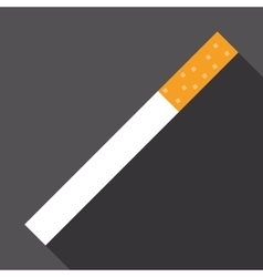 cigarette icon with long shadow vector image vector image