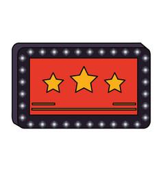 Cinema blank sign vector