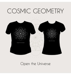 Cosmic Geometry T-Shirt vector image vector image