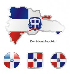 Dominican Republic Map Royalty Free Vector Image - Dominican republic map vector