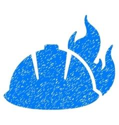 Fire helmet grainy texture icon vector
