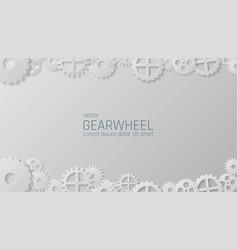 gears mechanism industrial background vector image vector image