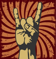 Gesture of hand in a grunge vector image