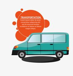 Green van vehicle transport vector