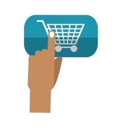 Isolated cart and hand design vector