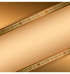 light brown background with ornamental lines vector image