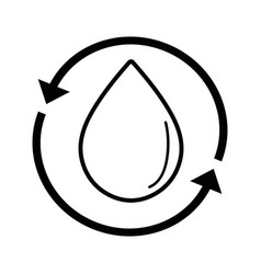 Line water drop with arrows around vector