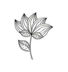 Lotus flower decoration sketch vector
