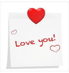 Love Sticky vector image vector image