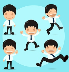 Man Happy Funny Cartoon Set vector image
