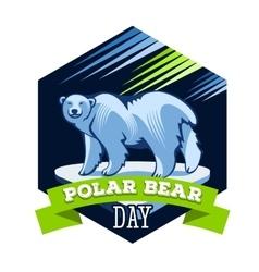 Polar Bear Day vector image