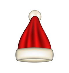 Red santa claus hat vector